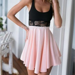 Xenia Boutique Black and Pink Dress